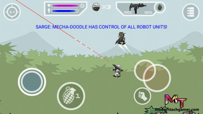 %mini militia game play screen shot